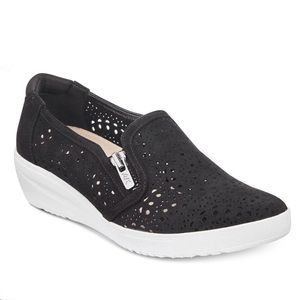 Anne Klein Sport black perforated slip on shoes 6